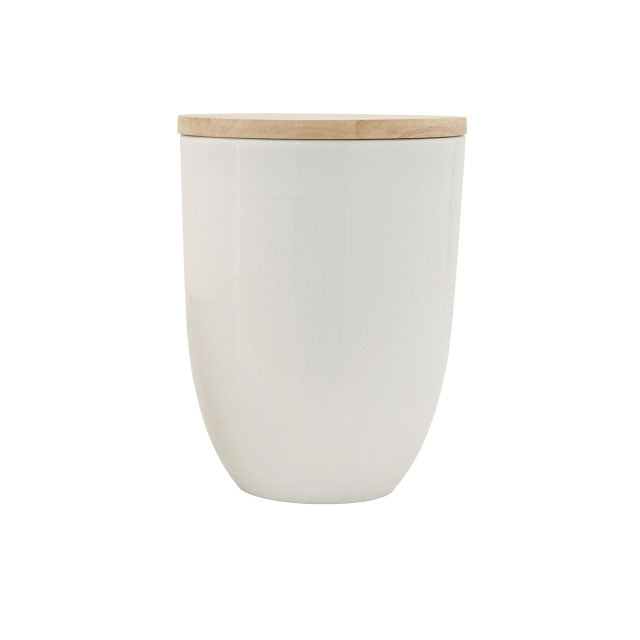 CERAMIC + WOOD CANISTER - Bungalow 56