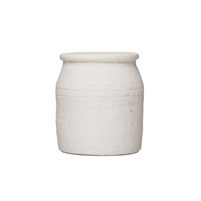 White Terra Cotta Crock - Bungalow 56
