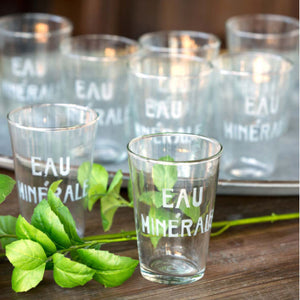 EAU MINERALE WATER GLASS - Bungalow 56 Living