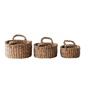 OVAL SEAGRASS BASKETS - Bungalow 56 Living