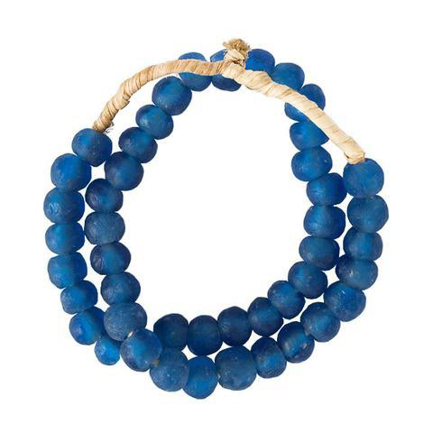 DEEP BLUE SEAGLASS BEADS - Bungalow 56