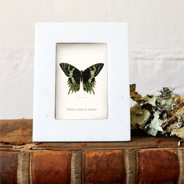 WHITE MARBLE PHOTO FRAME - Bungalow 56
