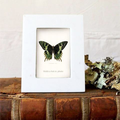White Marble Photo Frame - Bungalow 56 Living