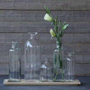 GLASS BOTTLE VASES - Bungalow 56