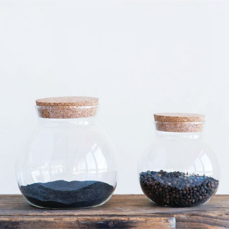 "GLASS + CORK JAR 5"" - Bungalow 56 Living"