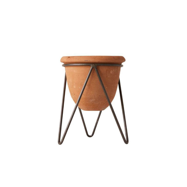 TERRA COTTA PLANTER WITH STAND - Bungalow 56 Living