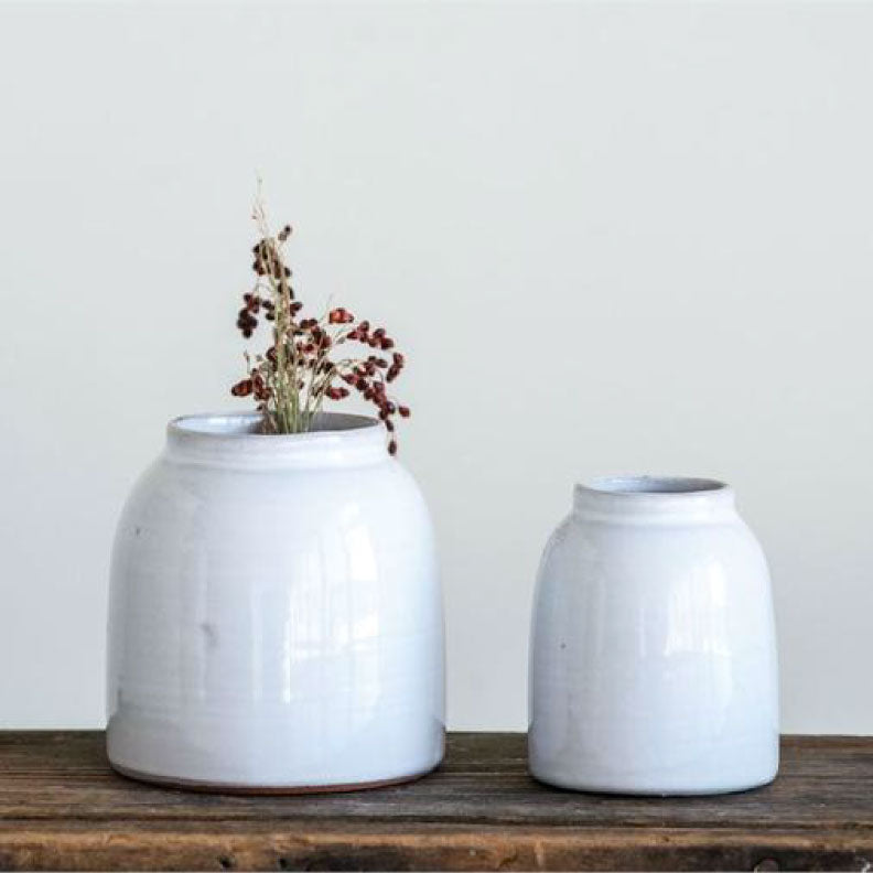 WHITE VASES - Bungalow 56 Living