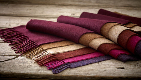 Soft autumn lambswool scarves gifts