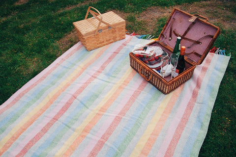 Rainbow Grey Waterproof Picnic Blanket
