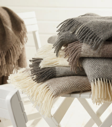 Natural Collection Wool Throws