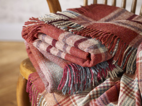Brick Red Bronte By Moon Blankets and Throws