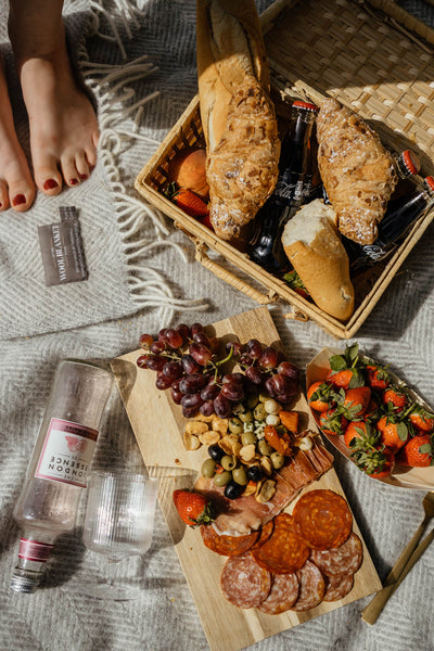 Charcuterie Board on a British Picnic Blanket