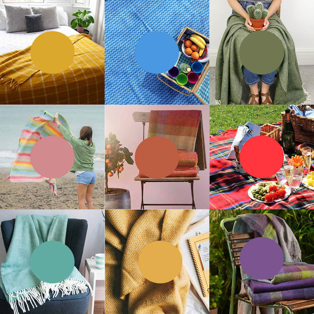 Summer Colours 2020 Wool Blankets Throws