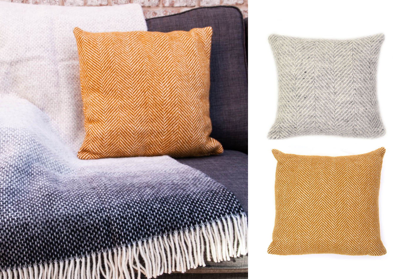 Tweedmill Textiles Herringbone Pure New Wool Cushions