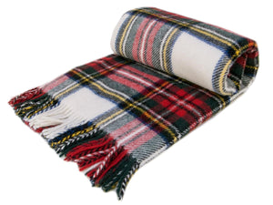 Tartan Pure New Wool Blanket - Dress Stewart