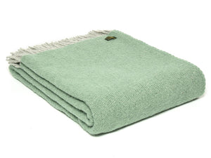 Boa Pure New Wool Throw - Sea Green
