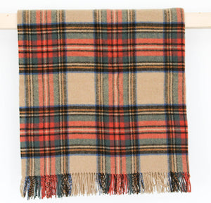 Tartan Pure New Wool Blanket - Antique Dress Stewart