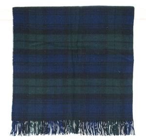 Tartan Pure New Wool Blanket - Black Watch