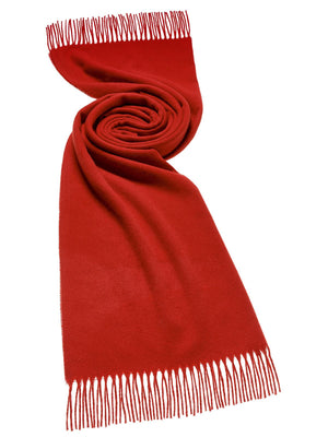 Plain Lambswool Scarf - Red Scarlet