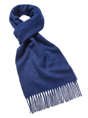 Plain Lambswool Scarf - Mid Blue