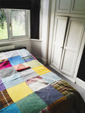 Patchwork Pure New Wool Throw - Random Check