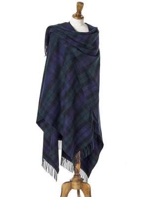 Tartan Lambswool Shawl - Black Watch