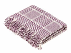 Prince of Wales Lambswool Throw - Lilac Check