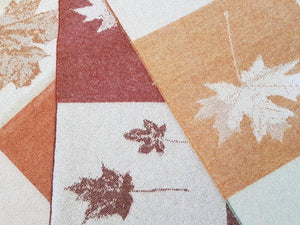 Autumnal Leaves Merino Lambswool Throw
