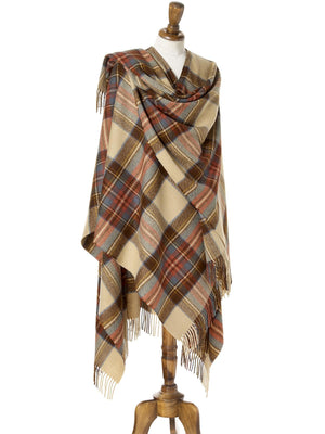 Tartan Lambswool Shawl - Antique Dress Stewart