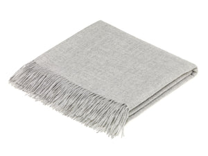 Alpaca Wool Throw - Silver Grey