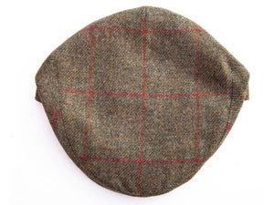 Garforth Tweed Flat Cap - Nidd Brown/Red