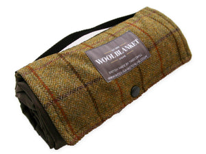 Tweed Waterproof Walker Companion Rug - Green