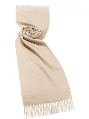 Alpaca Wool Stole - Natural Beige
