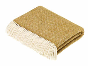 Parquet Lambswool Throw - Gold