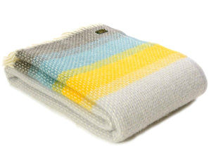 Ombre Pure New Wool Throw - Tidal Blue