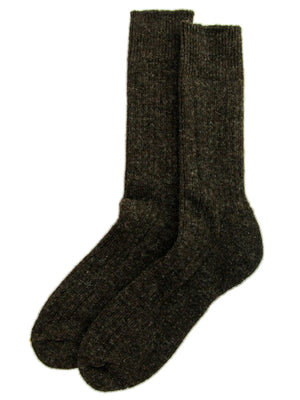 British Wool Walking Socks - Peat Brown