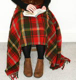 Tartan Pure New Wool Blanket - Dark Maple
