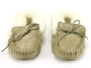 Lambswool Lined Moccasins with Collar