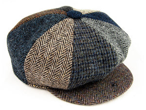 Patchwork Harris Tweed Baker Boy Hat