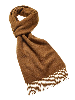 Plain Lambswool Scarf - Chocolate