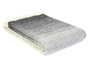 Ombre Pure New Wool Throw - Pebble Grey