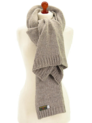 Chunky Knit Alpaca Scarf - Natural