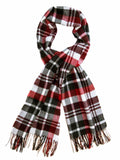 Easby Check Lambswool Stole - Grey/Red