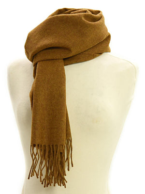 Plain Lambswool Scarf - Old Gold