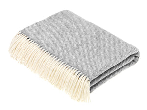 Parquet Lambswool Throw - Grey