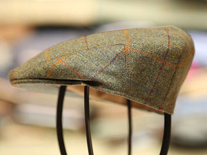 Garforth Tweed Flat Cap - Derwent Green