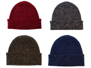 Fleck Donegal Wool Knitted Beanie Hat
