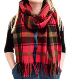Tartan Lambswool Scarf - Dark Maple