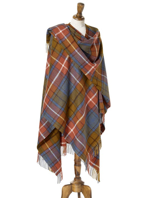 Tartan Lambswool Shawl - Antique Buchanan
