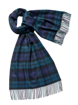 Tartan Lambswool Scarf - Black Watch